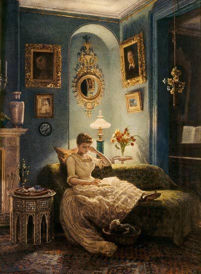 Bild:  Sir Edward John Poynter - An Evening at Home