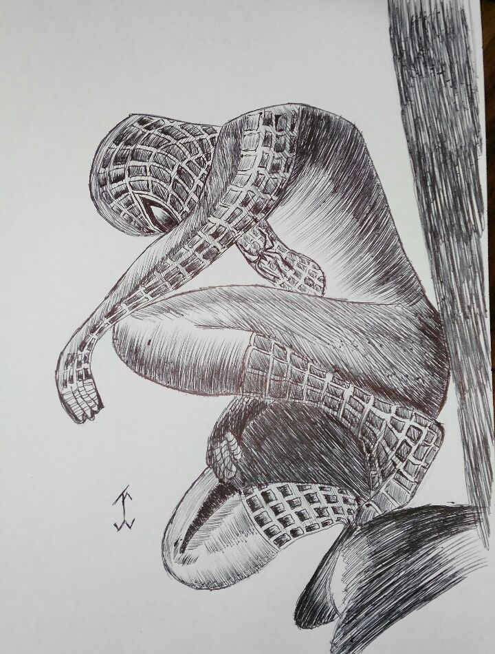 ComicSpiderman2 #comic #drawing #draw #pen #art #spiderman #movie #marvel #marvelcomic