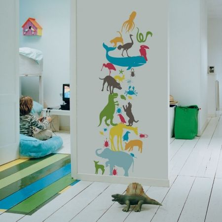 Kidslab muursticker dieren animal tower