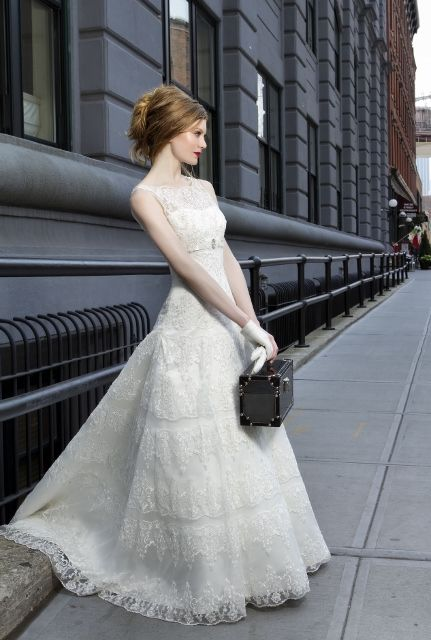 Hot Wedding Trends: Wedding Dresses with High Necklines