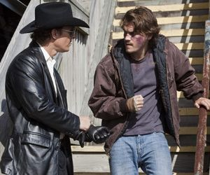 Matthew McConaughey and Emile Hirsch in Killer Joe - on DVD and Blu-ray 5th November.