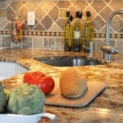 By Travertine Pavers Of Houston Kitchen Counters/backsplash Color Combo