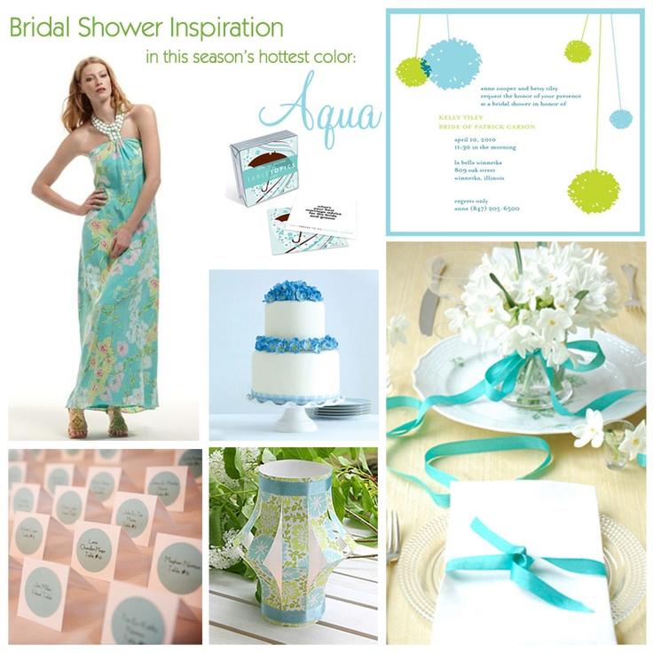 blue: Paper Lanterns, Wedding, Turquoi Bridal Shower, Turquoise Bridal Showers, Shower Inspiration, Inspiration Boards, Aqua Bridal, Parties Ideas, Shower Theme