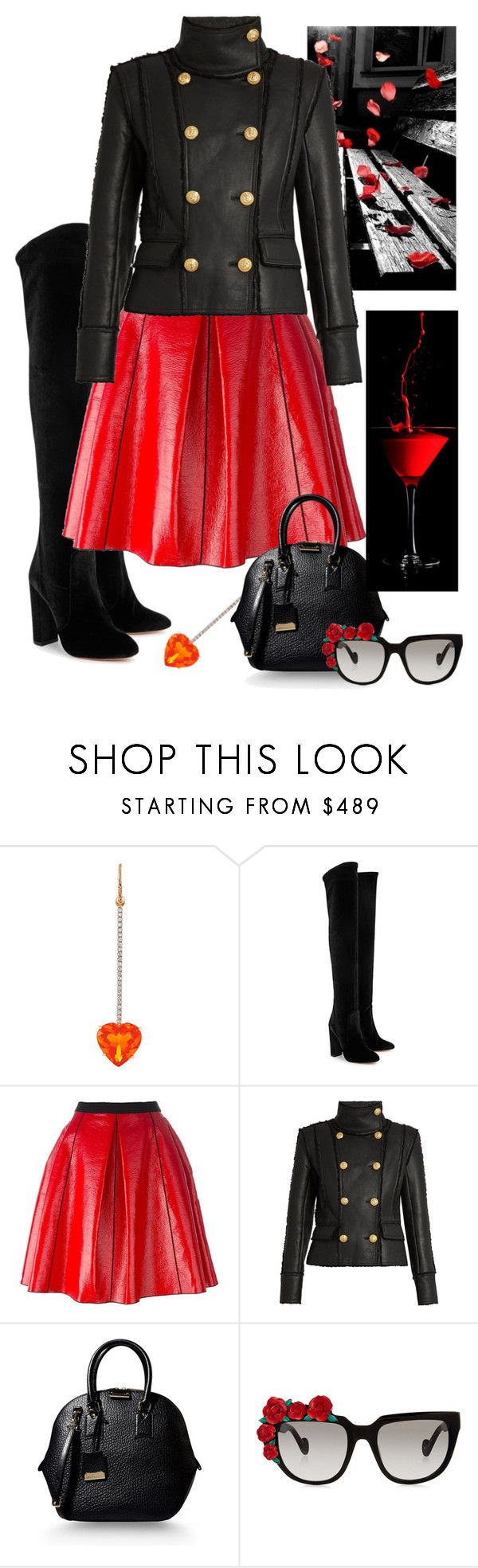 """""""Boots"""" by gagenna ❤ liked on Polyvore featuring Irene Neuwirth, Aquazzura, Antonio Marras, Marc Jacobs, Balmain, Burberry and Anna-Karin Karlsson"""