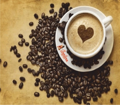 """Good morning, here's a """"hearted"""" cappuccino to make a good day comes real!  ."""