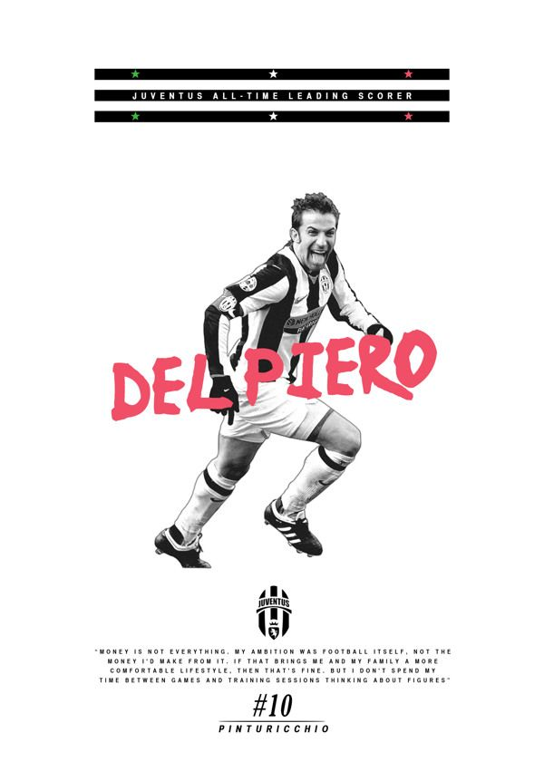 Alex Del Piero poster by Joe Bargus, via Behance