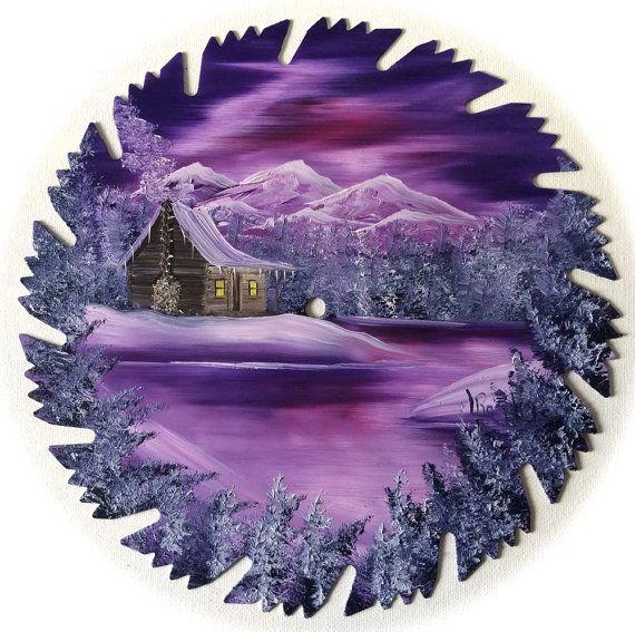 Montagne de lame de scie Mauve lavande par LindasMountainCrafts