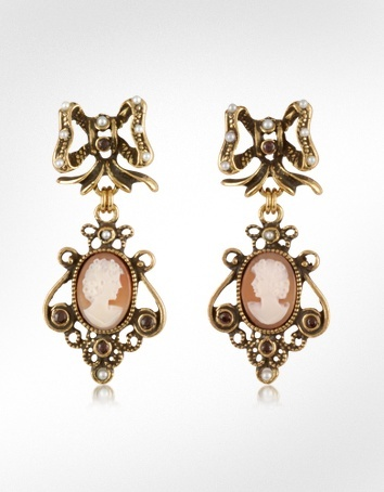 Gold-plated earrings with garnet stones Alcozer & J 8URBvW5RY