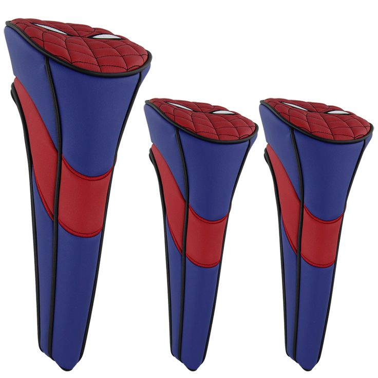3pcs Spider Man Golf Club Head Cover Putter Cover For Taylormade Titleist Ping  Email: bettygolflover@yahoo.com Skype: betty.den