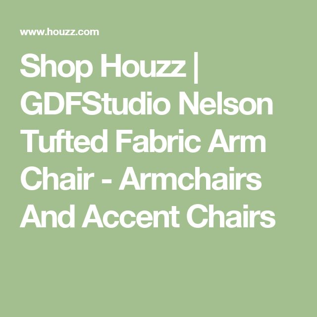 Shop Houzz | GDFStudio Nelson Tufted Fabric Arm Chair - Armchairs And Accent Chairs