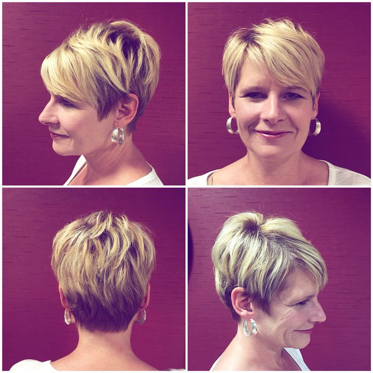 Cute Short Textured Haircut And Color By Ellen Hopson