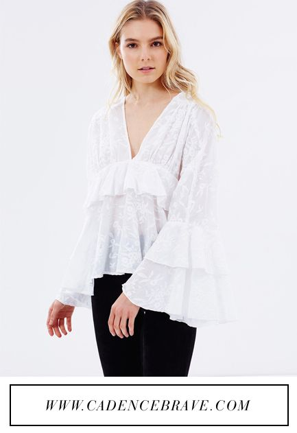 Stevie May Long Sleeve Ruffle Top: https://api.shopstyle.com/action/apiVisitRetailer?id=609252125&site=www.shopstyle.com.au&pid=uid3284-34523778-5