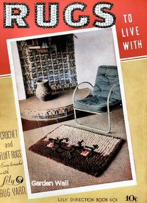 Rugs to Live With; Crochet, Pompon & Fluff Vintage Patterns Book for download