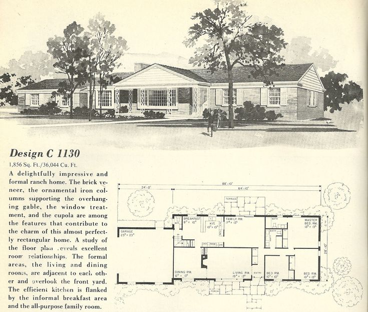 1000 images about interesting plans on pinterest for 1960 ranch house floor plans