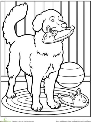 Pet Dog Coloring Page   Dog coloring page, Coloring pages ...