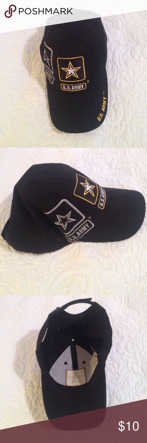 US Army Hat US Army Black Cap Kys  Accessories Hats