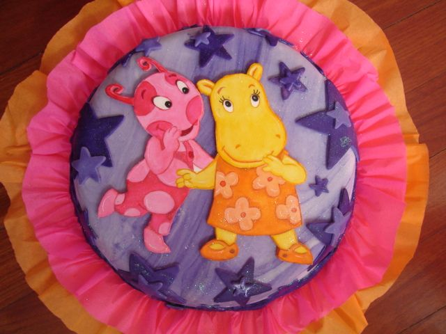 Torta Backyardigans Uniqua y Tasha // Backyardigans Uniqua and Tasha cake // Vilma Reyes // (832)9440888 Katy, Tx