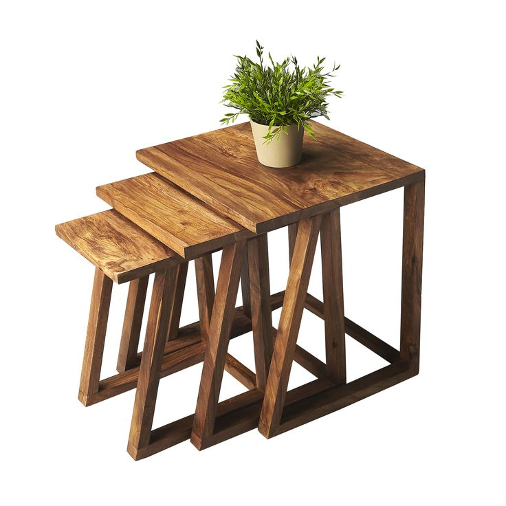 Zed Nesting Tables - Set of 3 | dotandbo.com  sc 1 st  Pinterest & 51 best Coffee / side tables images on Pinterest | Occasional tables ...