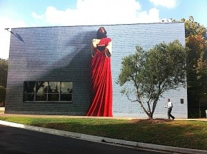 "Kent Twitchell's famous mural, ""The Word,"" is Biola's premiere piece of on-campus art. Completed in 1990, the mural was recently refurbished over the Summer of 2011."