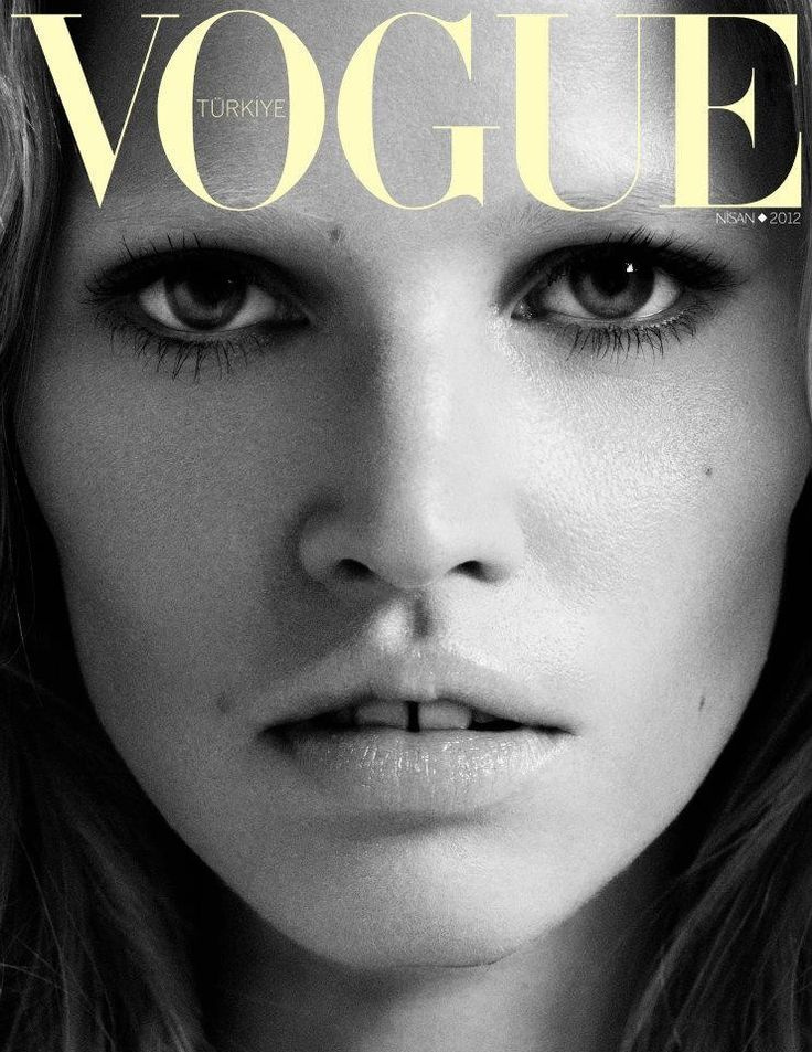 Lara, Lara – Lara Stone shows off her soft and tough side for the April issue of Vogue Turkey which features the Dutch beauty on two covers. Photographer by Cuneyt Akeroglu, Lara goes from blonde to brunette in the striking images.