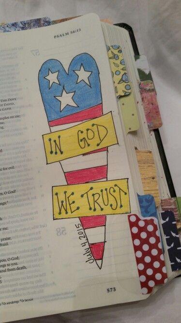 Psalm 56:3-4 - Bible Journaling