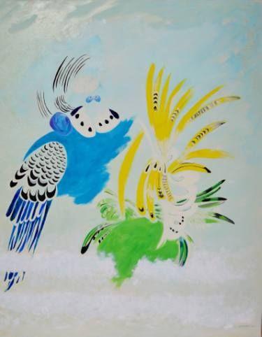 "Saatchi Art Artist mara montanari; Painting, ""Cotorras"" #art"