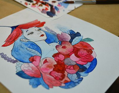 "Check out new work on my @Behance portfolio: ""Flower Girls""…"