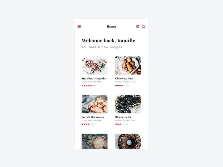 Food app - UI Movement