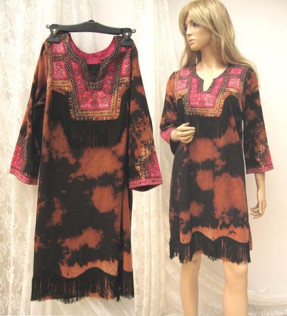 Nativo americano inspirado vestido vestido de por WILDandROMANTIC