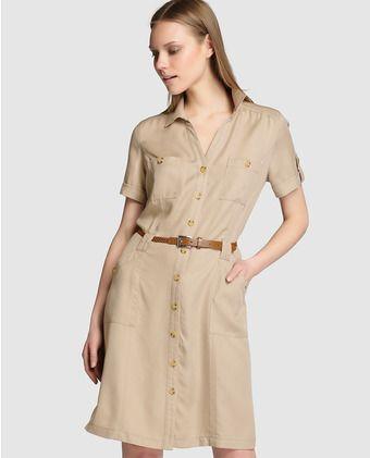 Vestido camisero de mujer Lloyd's de tencel