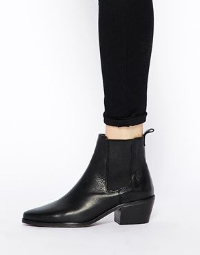 Enlarge Dune Petra Black Pointed Chelsea Boots
