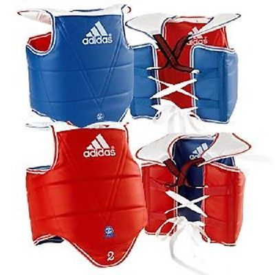 Chest Guards 179776: Adidas Chest Protector Guard Karate Sparring Gear Tkd Taekwondo Equipment BUY IT NOW ONLY: $104.95