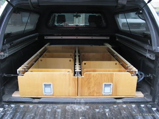 457 best images about vehicle storage systems on pinterest portal trucks and trailer storage - Diy truck bed storage ...