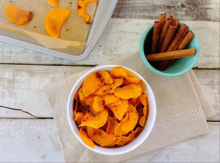 Baked Butternut Squash Chips - Almonds & Avocados