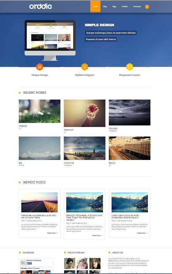 """st_Orddie"" Responsive web design template for Joomla! fixed with banner display slideshow, social media ready, built with many modules up to 3 column."