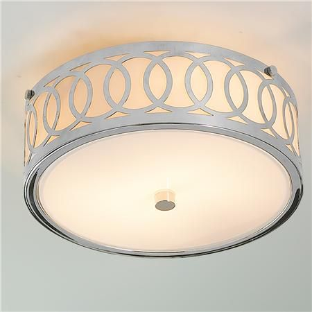 Small Interlocking Rings Flush Mount Ceiling Light $99