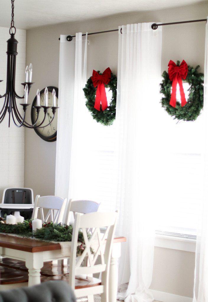 christmas decor | farmhouse modern christmas decor | diy christmas decorations | greenery decorations | christmas wreath ideas | christmas tablescape ideas | christmas tree farmhouse | christmas home decorations on a budget