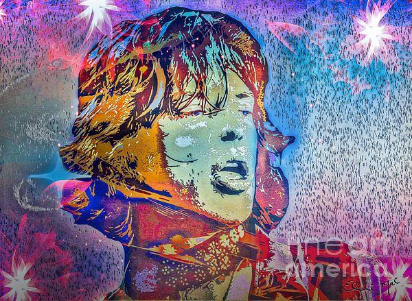 Pop Art of Rock Musician Mick Jagger