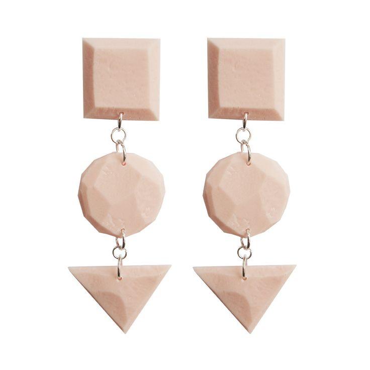 Dotti Geometry earrings, dusty pink