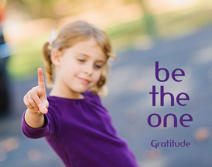 Be the One, a story about being thankful and grateful, to share with our children, by Carey Pace