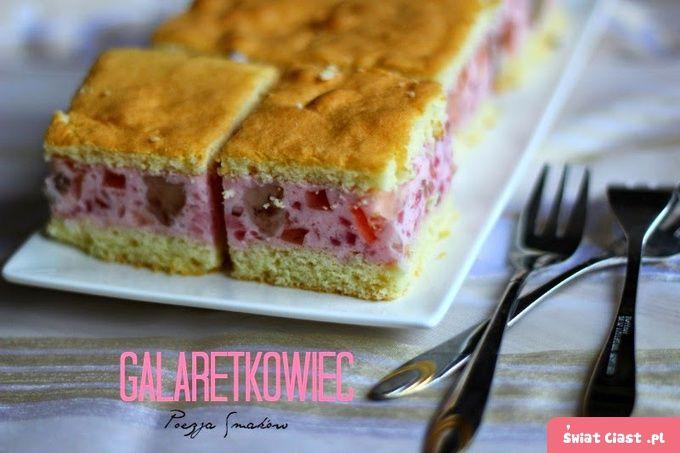Galaretkowiec - przepis na bardzo tanie ciasto.