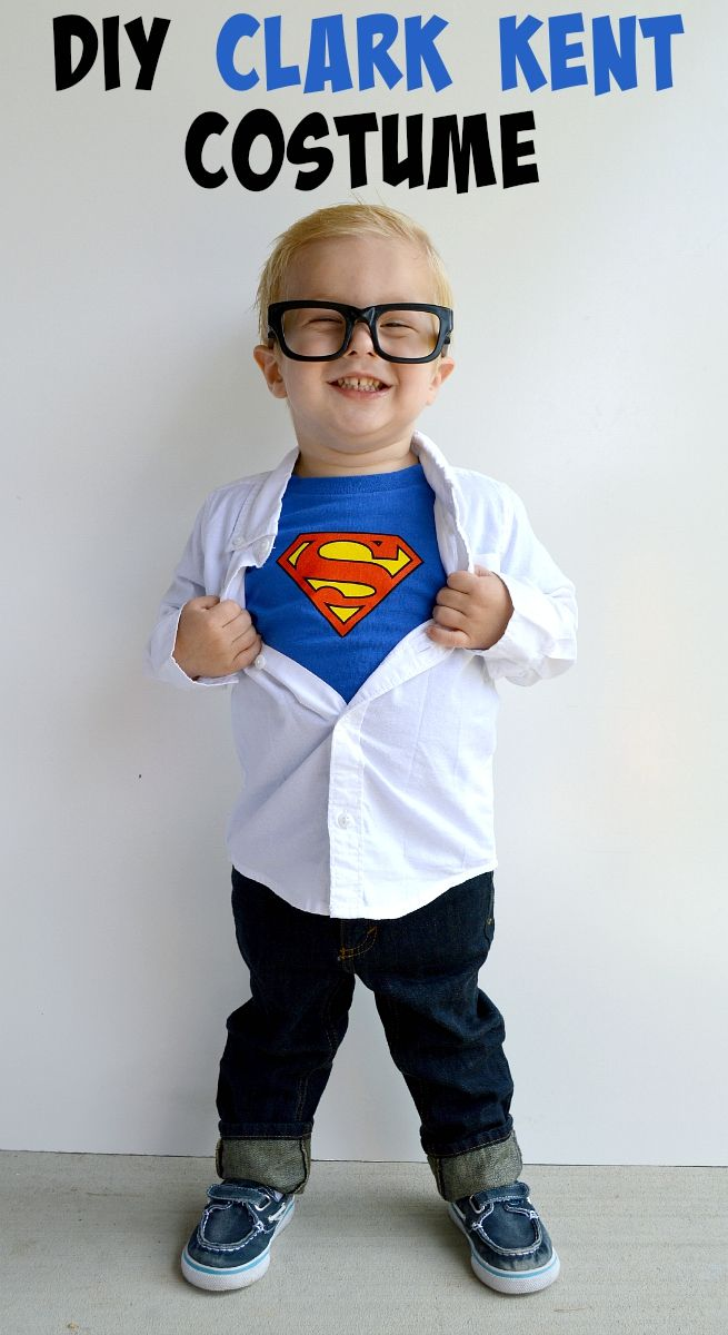 DIY Clark Kent Costume - perfect Halloween costume for boys!