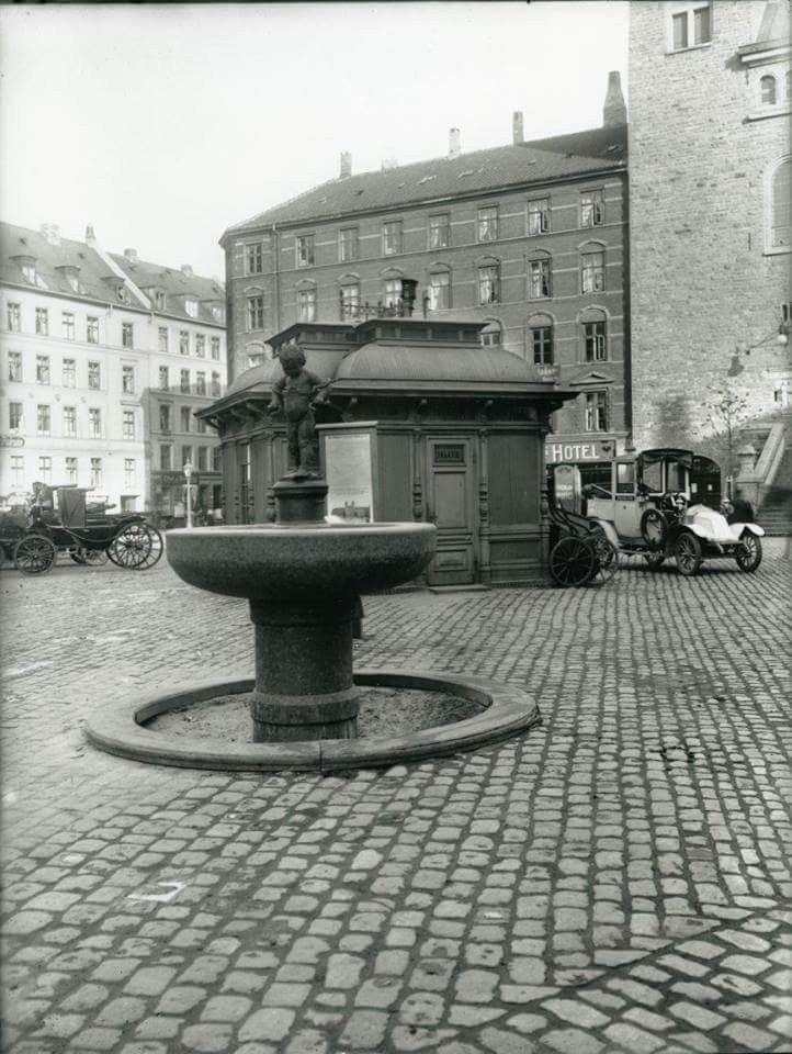 Vesterbros Torv i 1910. Foto Peter Elfelt.