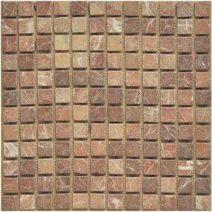 Rojo Alicante Marble Mosaic Tumbled