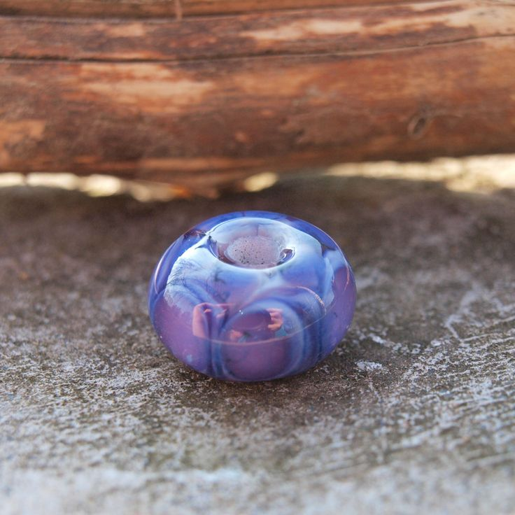 Lampwork bead Purple