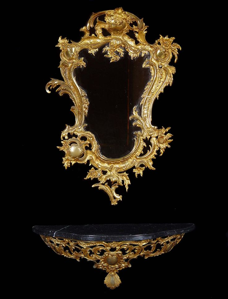 This #Rococo ensemble's design reflects the imported #French mirrors that we just got in at Dwellings.