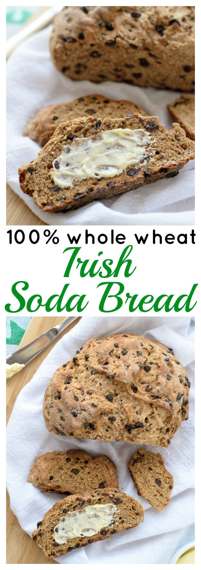 Whole Wheat Irish Soda Bread. Moist, healthy, and delicious! This is the perfect soda bread recipe.