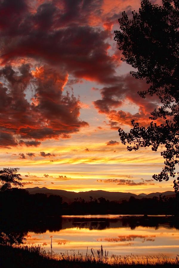 ✮ Dramatic Sunset Reflection - Boulder County, CO: Bouldering County, Bouldering Colorado, Travel Site, Strike Photography, Sunsets Reflection, Beautiful Sunsets, Dramatic Sunsets, Beautiful Artworks, Sunsets Sunri
