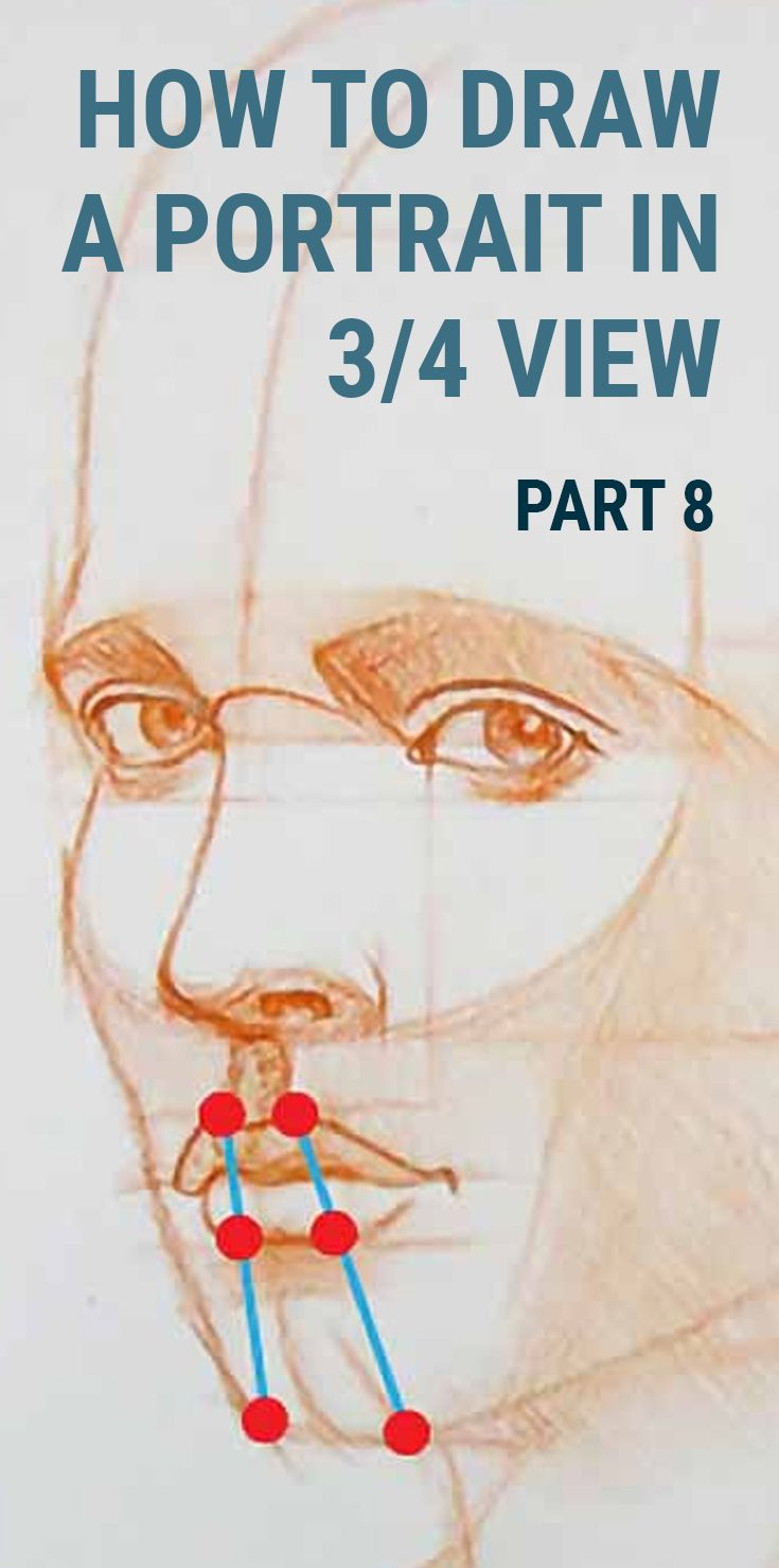 Methods to Draw a Portrait in Three Quarter View Half 8