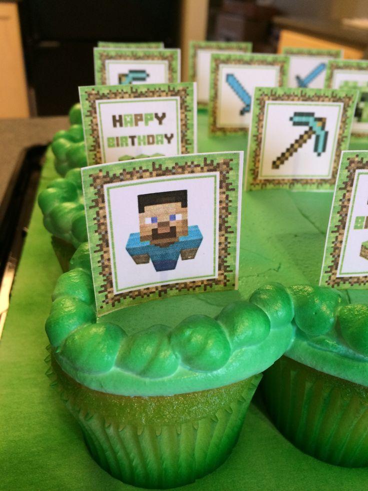 Yeah Minecraft Cupcakes!